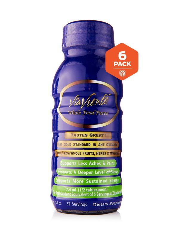 ViaViente Whole Food Puree 6 pack (6-8oz Bottles)